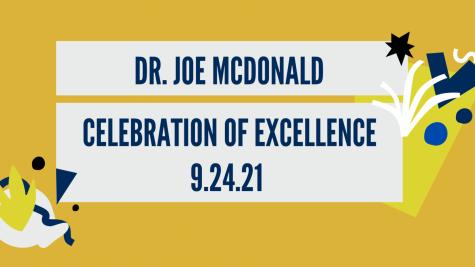 Dr. Joe McDonald Night - Celebration of Excellence